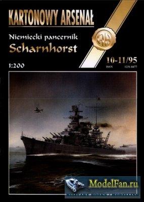 Halinski - Kartonowy Arsenal 10-11/1995 - Battleship Dkm Scharnhorst