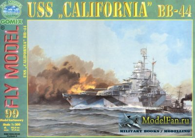 "Fly Model 099 - Battleship USS ""California"" 1944"