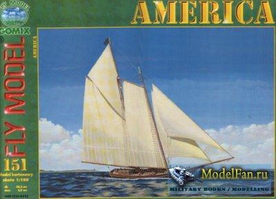 Fly Model 151 - Racing Schooner ''America'', 1851
