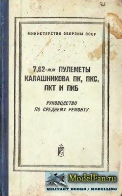 7,62-мм пулеметы Калашникова ПК, ПКС, ПКТ и ПКБ. Руководство по среднему ре ...
