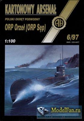 Halinski - Kartonowy Arsenal 6/1997 - Submarine ORP Orzel