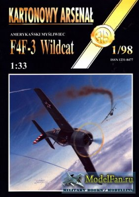 Halinski - Kartonowy Arsenal 1/1998 - F4F-3 Wildcat
