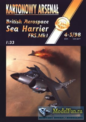 Halinski - Kartonowy Arsenal 4-5/1998 - Sea Harrier FRS.Mk 1