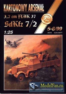 Halinski - Kartonowy Arsenal 5-6/1999 - 3,7 cm Flak 37 SdKfz 7/2