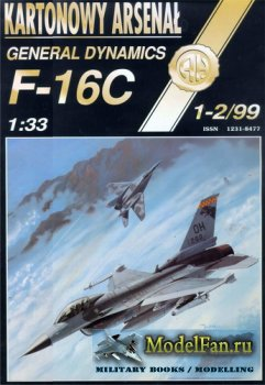 Halinski - Kartonowy Arsenal 1-2/1999 - General Dynamics F-16C