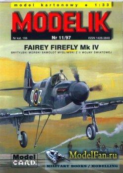 Modelik 11/1997 - Fairey Firefly Mk IV