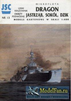 JSC 013 - Light Cruiser ORP Dragon & Submarine ORP Jastrzab