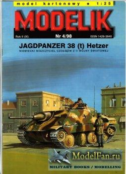 Modelik 4/1998 - Jagdpanzer 38 (t) Hetzer