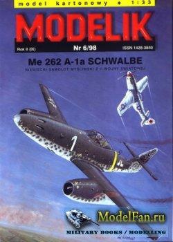 Modelik 6/1998 - Me-262 A-1a Schwalbe