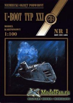 Halinski - Model Kartonowy NR 1 - U-2511 U-Boat Type XXI