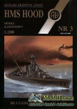 Halinski - Model Kartonowy NR 3 - Battlecruiser Hms Hood