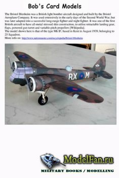 Bob's Card Models - Bristol Blenheim Mk.IF