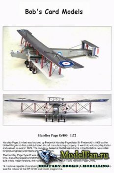 Bob's Card Models - Handley Page 0/400