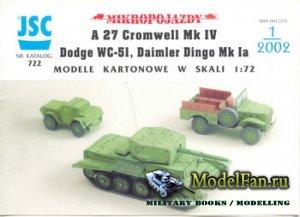 JSC 722 - A 27 Cromwell Mk IV, Dodge WC-51, Daimler Dingo Mk Ia