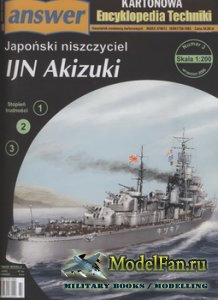 Answer. Kartonowa Encyklopedia Techniki 2006-03 - IJN Akizuki