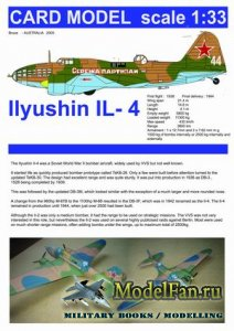 Card Model - Bruce - Ilyushin IL-4