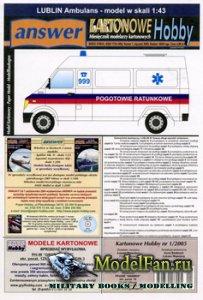 Answer. Kartonowe Hobby 1/2005 - Ambulans Lublin
