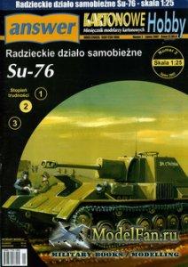 Answer. Kartonowe Hobby 2/2007 - Su-76