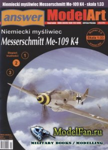 Answer. ModelArt 2-3/2005 - Messerschmitt Me-109 K4