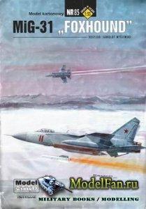 ModelCard №85 - MiG-31