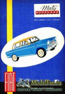 Maly Modelarz №1 (1960) - Samochod osobowy FIAT-1800