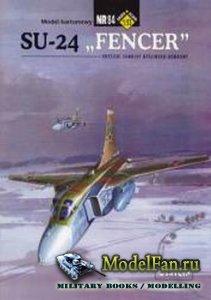 ModelCard №84 - Su-24