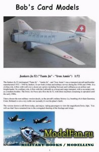 Bob's Card Models - Junkers Ju 52 (
