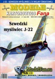 Answer. Model Kartonowy Fana 7/2002 - Szwedzki mysliwiec J-22
