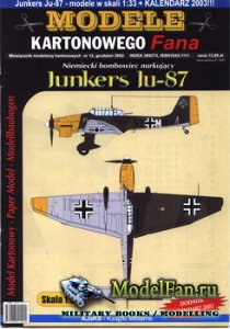 Answer. Model Kartonowy Fana 12/2002 - Junkers Ju-87