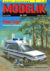 Modelik 7/2007 - Polonez Cargo (Ambulans)