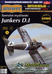 Answer. Model Kartonowy Fana 1/2007 - Junkers D.1