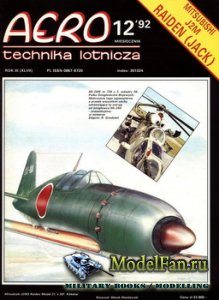 Aero Technika Lotnicza 12/1992 - Mitsubishi J2M Raiden (Jack)