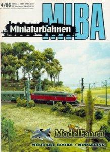 MIBA (Miniaturbahnen) 4/1986