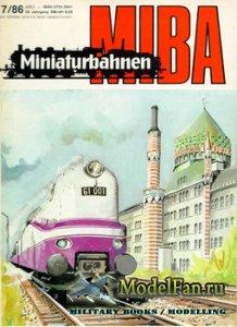 MIBA (Miniaturbahnen) 7/1986