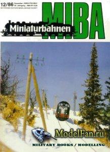 MIBA (Miniaturbahnen) 12/1986