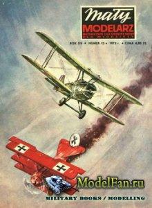 Maly Modelarz №12 (1972) - Samoloty mysliwskie SE-5a i Fokker Dr I