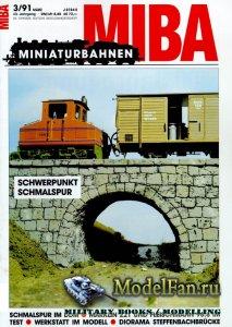 MIBA (Miniaturbahnen) 3/1991