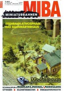 MIBA (Miniaturbahnen) 7/1991