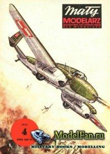 Maly Modelarz №4 (1974) - Samolot mysliwsko-bombowy PZL-38