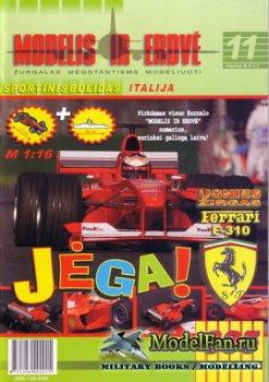 Modelis ir Erdve 11 - Ferrari F310 M.Schumacher