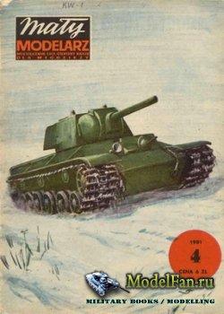 Maly Modelarz №4 (1981) - Ciezki czolg KW-1
