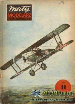 Maly Modelarz №11 (1981) - Samolot mysliwski Ansaldo 1-A