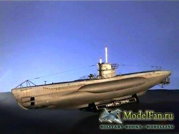 FujiTV show Plamo Tsukurou (Сезон 1, Выпуск 14) - Revell U-boat VII C Wolf  ...