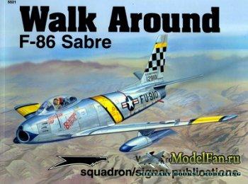 Squadron Signal (Walk Around) 5521 - F-86 Sabre