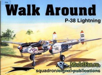 Squadron Signal (Walk Around) 5530 - P-38 Lightning