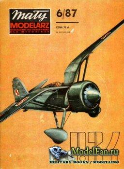 Maly Modelarz №6 (1987) - Samolot mysliwski PZL P.24 G