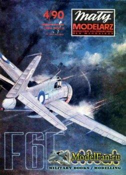Maly Modelarz №4 (1990) - Samolot Grumman F6F-3