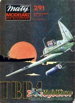 Maly Modelarz №2 (1991) - Samolot torpedowy TBD