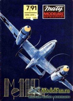 Maly Modelarz №7 (1991) - Samolot mysliwski Messerschmit Me-110C