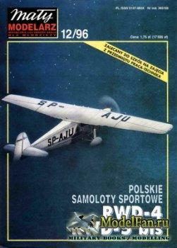 Maly Modelarz №12 (1996) - Samoloty sportowe RWD-4 & RWD-5 bis